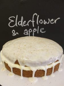 Elderflower and apple cake
