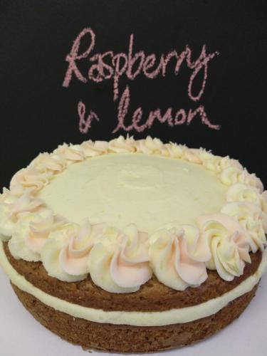 Raspberry and lemon cake